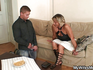wife finds him fucking her mamma