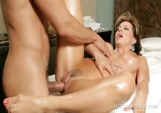 horny masseur fucking starving hawt oily pussy